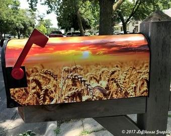 Golden Harvest! MailBox Cover, Mailbox Wrap.