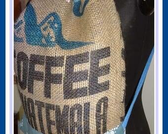 """Coffee bag backpack """"GUATEMALA"""", ca. 40 x 45 cm"""