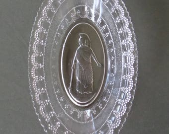 Antique 1800's Adams & Co. Minerva EAPG Pressed Glass Pickle Dish