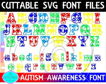 Autism Awareness SVG, PNG Files Silhouette Cameo and Cricut Files