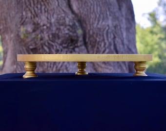 Custom Made Round Gold Cake Stand*14 Inch Diameter Cake Stand*Gold Cake Stand*Wedding Cake Stand*Cake Stand Gold*Gold Cake Stand for Wedding