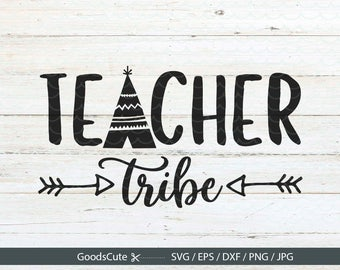 Teacher Tribe SVG Arrow SVG Tribe SVG Clipart Vector for Silhouette Cricut Cutting Machine Design Download Print