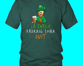 Drunk Leprechaun Irish | Saint Patricks Day T-Shirt | St Pats T-Shirt | Funny | Gift