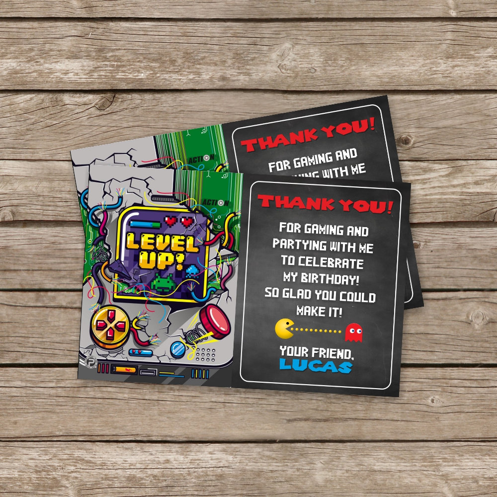 Video Game Birthday Invitation, Gaming Party Invitation, Video Game ...