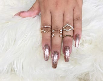 Rose Gold Press On Nails