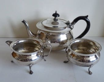 Yeomans silver plated tea set