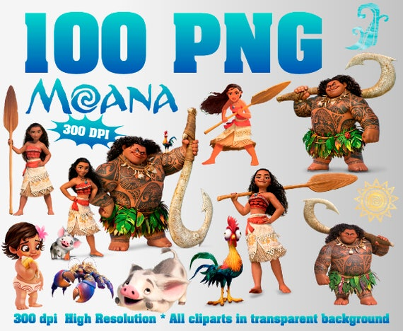 Moana Clipart 100 PNG 300 Dpi Transparent background