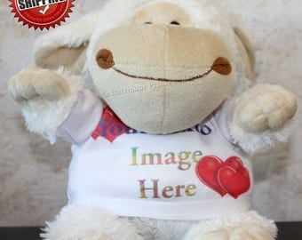 Personalised Cuddly Soft Lamb Comes With Its Own T Shirt