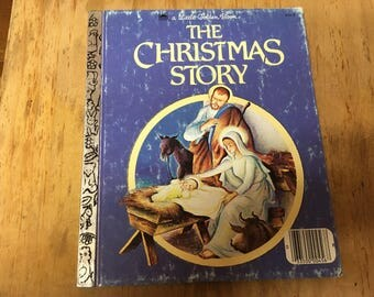 LITTLE GOLDEN BOOK: The Christmas Story 1980 printing vintage