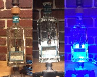Altos Tequila Bottle Pipe Lamp