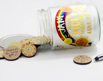 Personalised Sunshine Message Jar with Sun Tokens