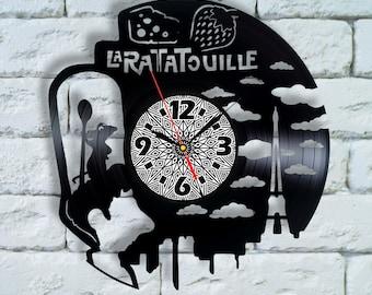 Ratatouille Art Clock ratatouille disney ratatouille pixar poster print mouse rat cook Remy Linguini ratatouille anyone can cook decor