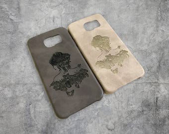The Beauty - Personalised Premium PU Leather Phone Case
