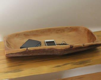 Rectangular Cedar Log Bowl - Tray