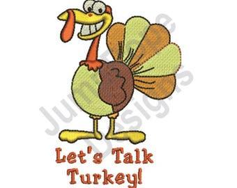 Lets Talk Turkey - Machine Embroidery Design