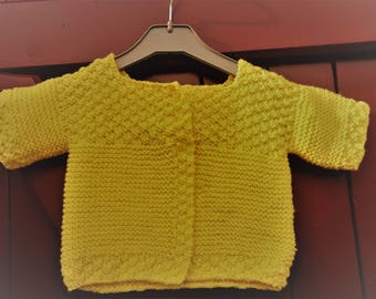 6/9 months hand knitted baby VEST