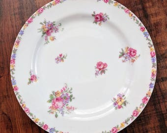 Flower serving plates, a set of 4 tea plates