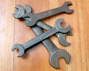 Four Antique Open End Wrenches