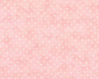 Moda Essential Dots Pink Fabric - #8654 21 - Pink Cotton Quilting Fabric, Pink Blender Fabric, Pink Polka Dot Fabric - By the Yard