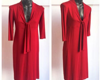 Wide neckline dress with Sleeve 3/4 Jersey-size M-Made in Italy