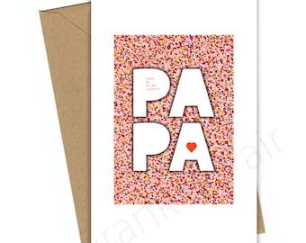 Vaderdag,Vaderdag cadeau,papa,bedankt papa,voor papa,liefste papa,kaart,inlijsten,instant download,aandacht voor papa,typografische print