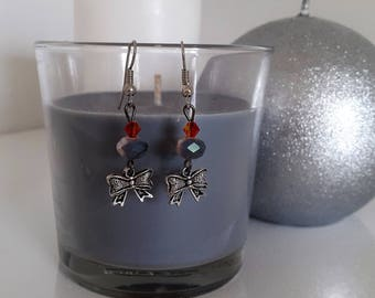 Knots and beads earrings