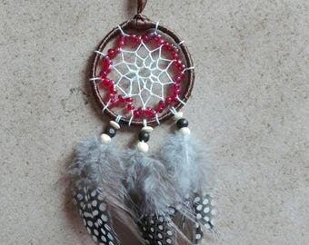 Dream catcher feathers and pearls cotton