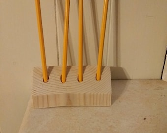 Scrap wood pencil holder