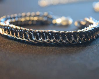 Black and Silver Persian Bracelet