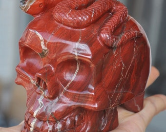 "4"" Red Jasper Carved Crystal Skull"