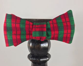 ReTied Men's Christmas bow tie, self-tie handmade adjustable made with upcycled material and all metal buckle  // bow tie for men // ReTied