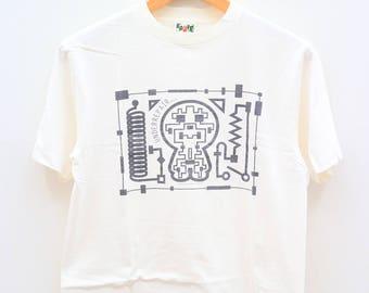 Vintage A BATHING APE Underrepair Bape White Tee T Shirt Size M