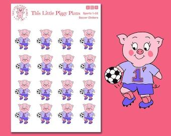 Soccer Oinkers - Soccer Planner Stickers - Soccer Game - Soccer Practice - Soccer Mom - Sports -Soccer Ball - Soccer Team - [Sports 1-03]