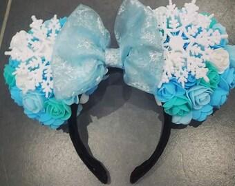 Elsa Inspired Floral Ears