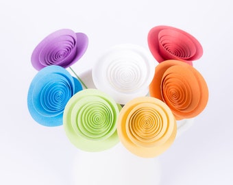 "Hand-made paper flowers - bouquet ""Rainbow"""