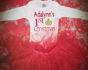 Adorable onesie with matching tutu