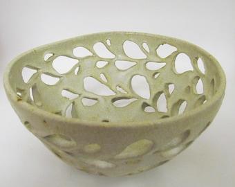 Ivory Orchid Pot/Planter/Fruit Bowl