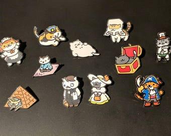Tubbs and Friends - Neko Atsume Enamel Pins