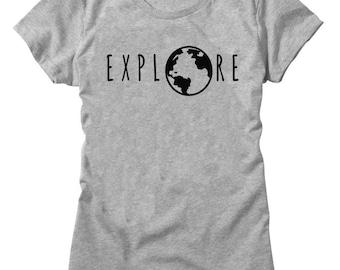 Explore The World Travel Globe Women's T-shirt