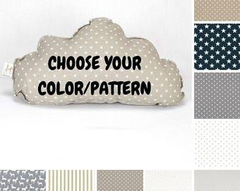 Cloud Pillow - Choose from Gunmetal and Gray Colors, Kids pillows, Children Pillows, Cloud Cushion, Decorative Pillow, Nursery Decor