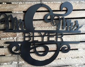 Mr & Mrs name sign
