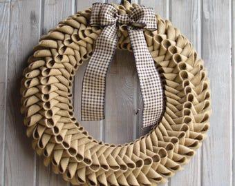 Burlap Petal Wreath