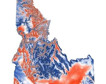 Boise State University Idaho Topographic Map
