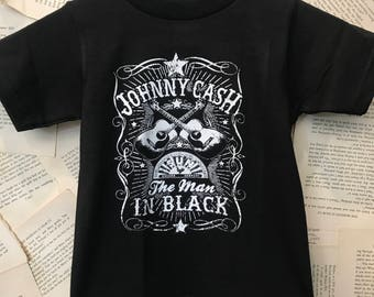 Johnny Cash baby / children band shirt