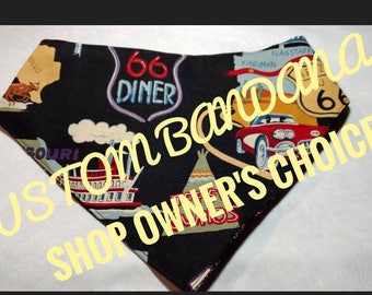Custom/ Shop Owners Choice Dog bandana cat bandana pet bandana tie on bandana Snap-on bandana pet Couture dog Couture cat Couture