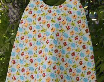 Cotton dress girl double sided