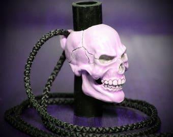Skull. Mouthpiece for hookah
