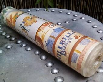Hillbilly bears wallpaper border, vintage wallpaper border, scrapbooking paper, crafter's paper