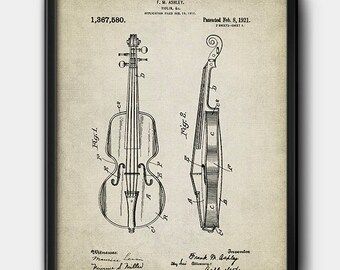Violin · Patent · Vintage · Instant Download · Printable #152