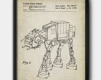 AT-AT · Star Wars · Patent · Vintage · Instant Download · Printable #161